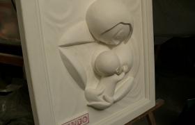 漆喰フレーム 母子
