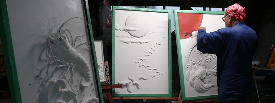 鏝絵と漆喰