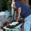 漆喰で作る看板